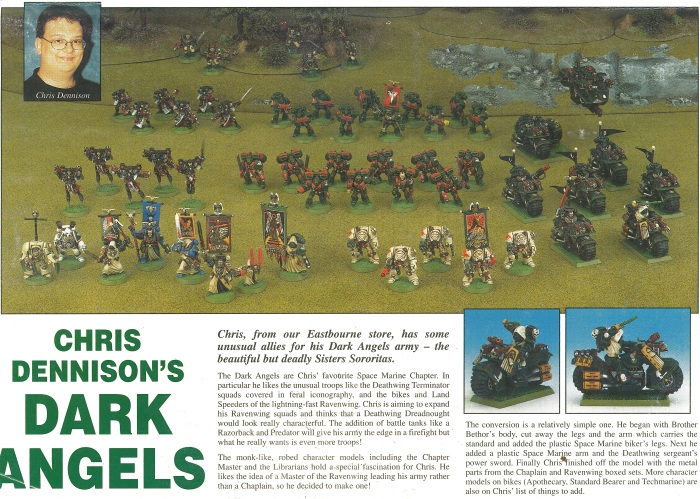 White Dwarf 223 (1998) Back Page - Chris Dennison's Dark Angels - click for a (much) bigger picture