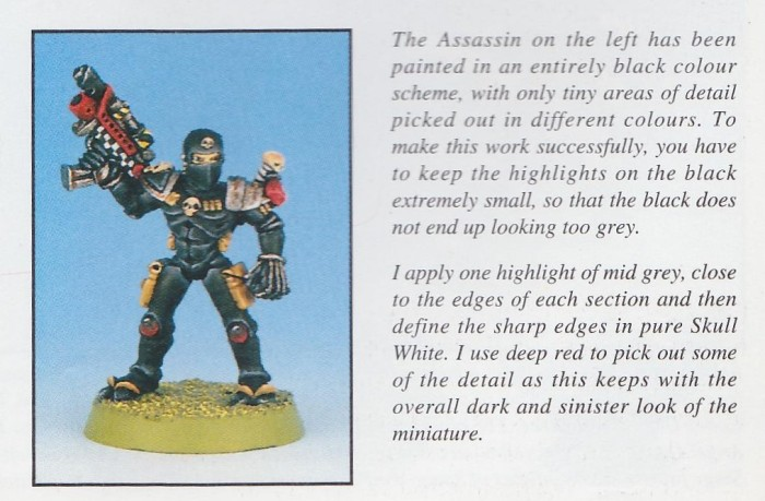 Assassin  - WH40K Painting Guide p 79