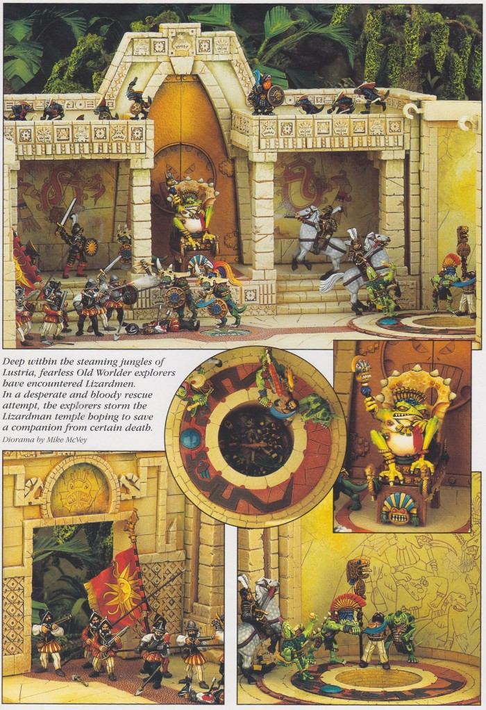 Mike McVey Lizardmen diorama 1 (Lizardmen Book)