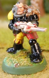 Space Marine Scout with Shuirken Catapult 1 5 close
