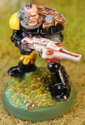 Space Marine Scout with Shuirken Catapult 1 6 close