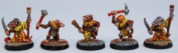 Mordheim Skaven Clan Scrutens clubs and daggers