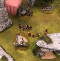 The ambush party manages to catch the Norse on the left hand side, despite them trying to make a break for it!